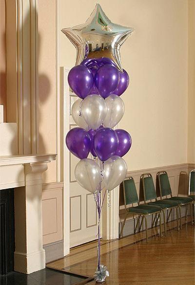 Helium balloon floor dec helium balloons balloons and for Helium balloon centerpieces