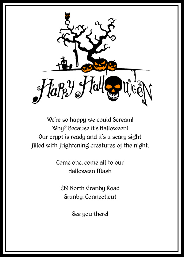 Scary Halloween Invitation Templates Free  Halloween