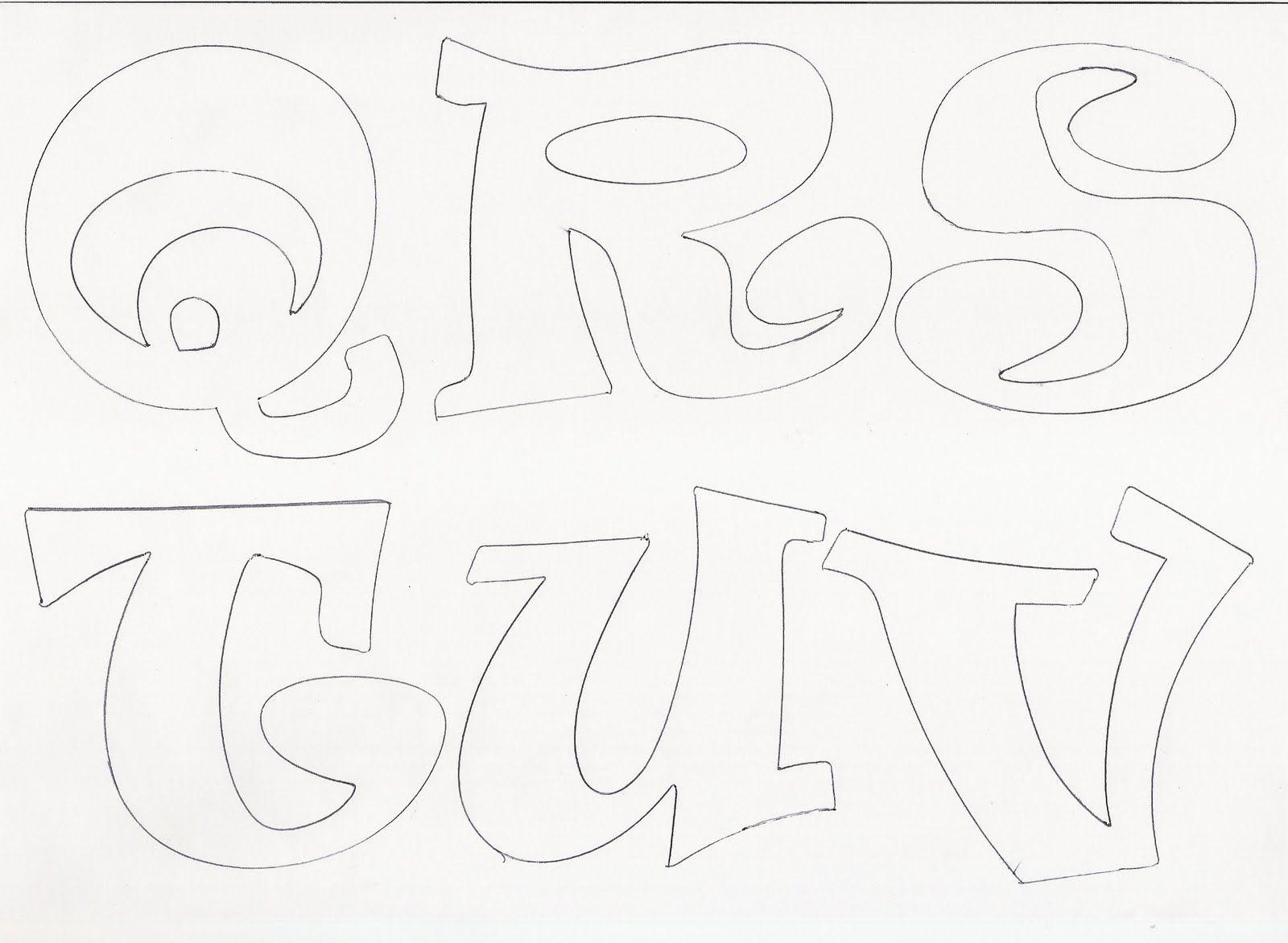 Los Moldes De Letras Para Colorear | Graffiti Graffiti 4 CM | letras ...