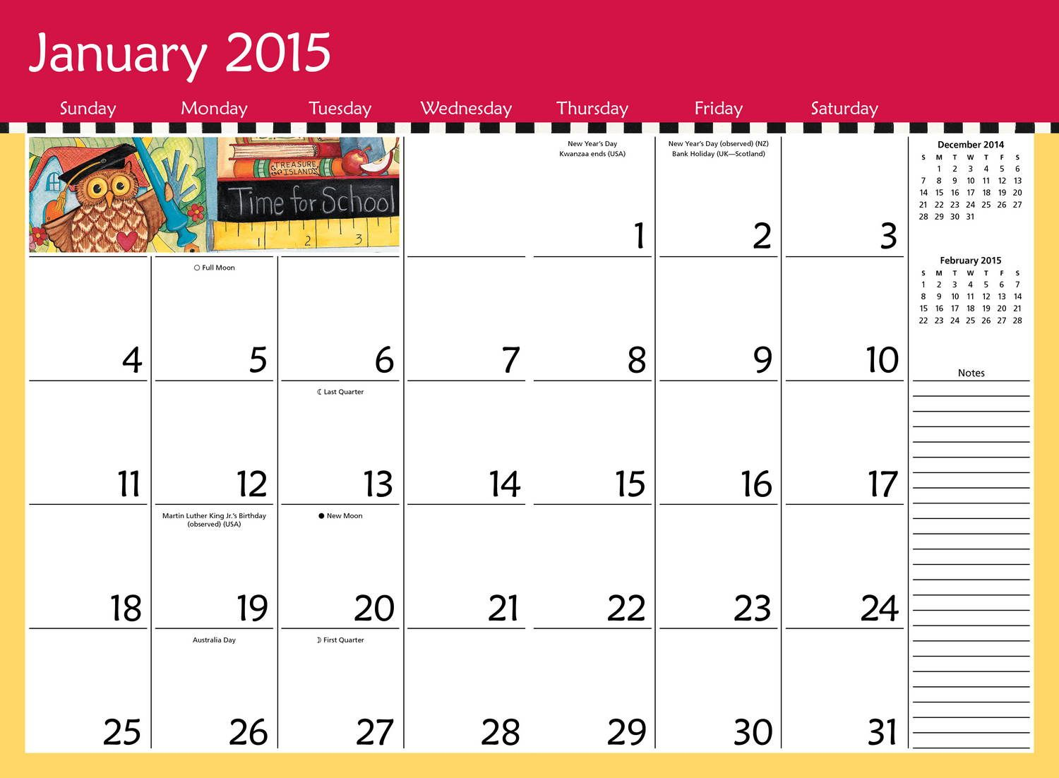 monthly calendars 2015 to print