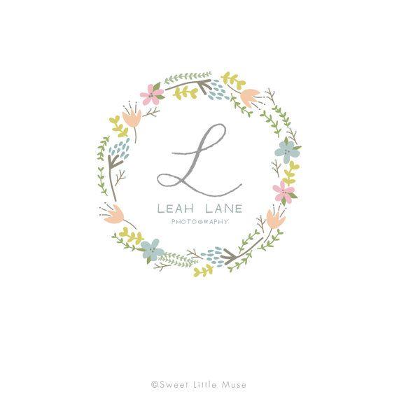 photography logo hand drawn logo wreath logo floral