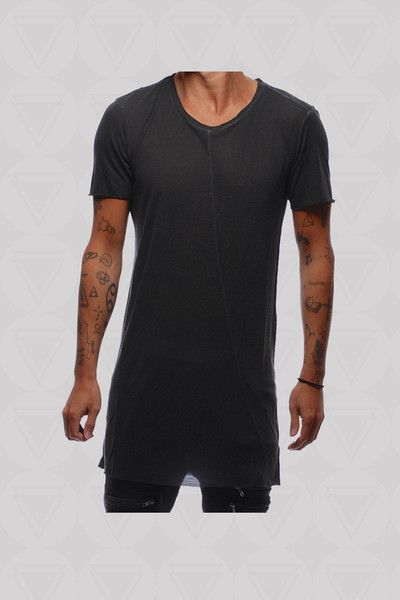 Slim Fit Crow T-Shirt - Black Dyed