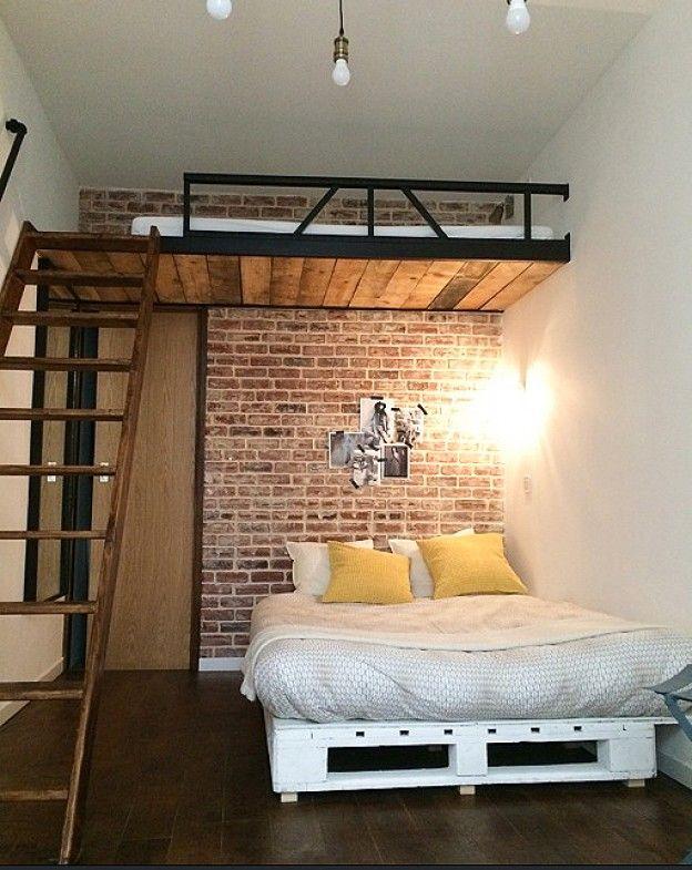 Épinglé par Philippe sur Studio avec mezzanine | Chambre lit ...