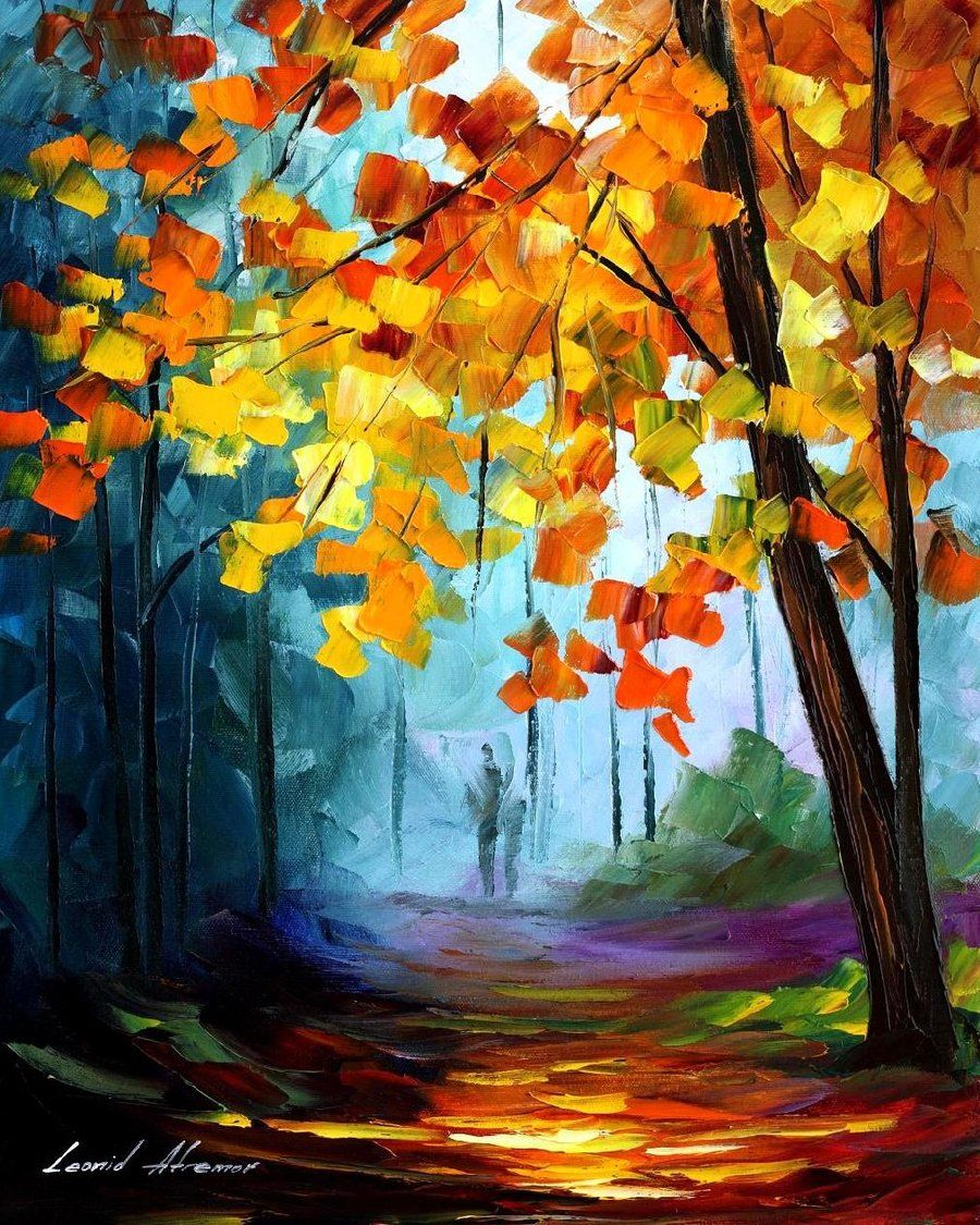 Summer leonid afremov by leonidafremov on deviantart for Fall paintings easy