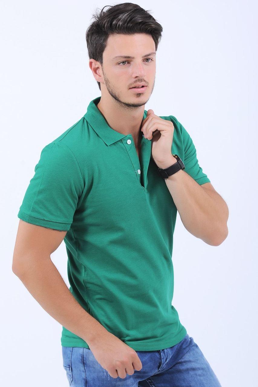 616a8647347bb Polo Yaka Basic Yeşil T-Shirt #giyim #indirim #kampanya #bayan #erkek #bluz  #gömlek #trençkot #hırka #etek #yelek #mont #kaşe #kaban #elbise #abiye ...