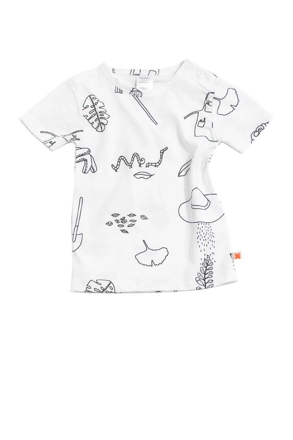 2e8cd5ae8bc This unisex tee is printed with a variety of whimsical garden graphics
