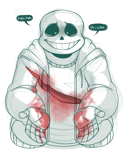 sans undertale luckily you can avoid this if you're a good little human who spares and makes friends ^-^