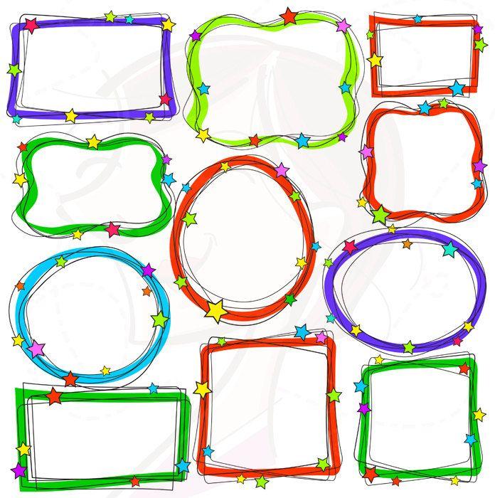 whimsical frames christmas borders clipart digital doodles hand rh pinterest com digital scrapbooking clipart for teachers Teacher Owl Clip Art