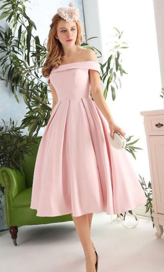 Off the Shoulder Prom Dress,Short Homecoming Dress,Pink Prom Dress ...