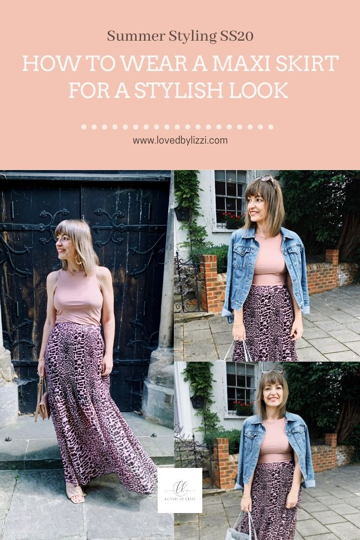 Keep it all simple with a maxi length skirt for great summer styling in 2020. #outfitpost #howtowear #fashionblogger