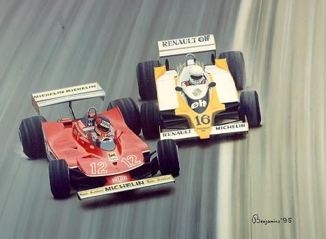 Villeneuve vs Arnoux. 1979 French Grand Prix, The best last 2 laps in Formula 1 history.