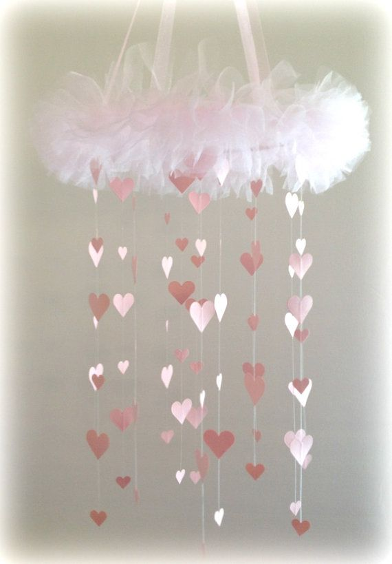 Sweet Heart Light Pink Hearts Chandelier By Sparklesrcontagious 55 00