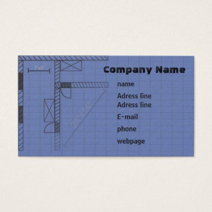 Standard 35 x 20 blueprint business card architect gifts standard 35 x 20 blueprint business card architect gifts architects business diy unique malvernweather Image collections