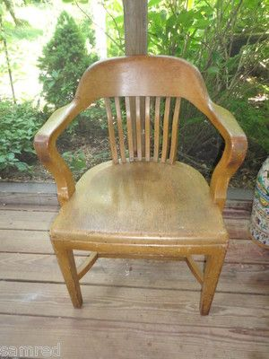 Vintage B L Marble Chair Oak Banker S Chair Original With