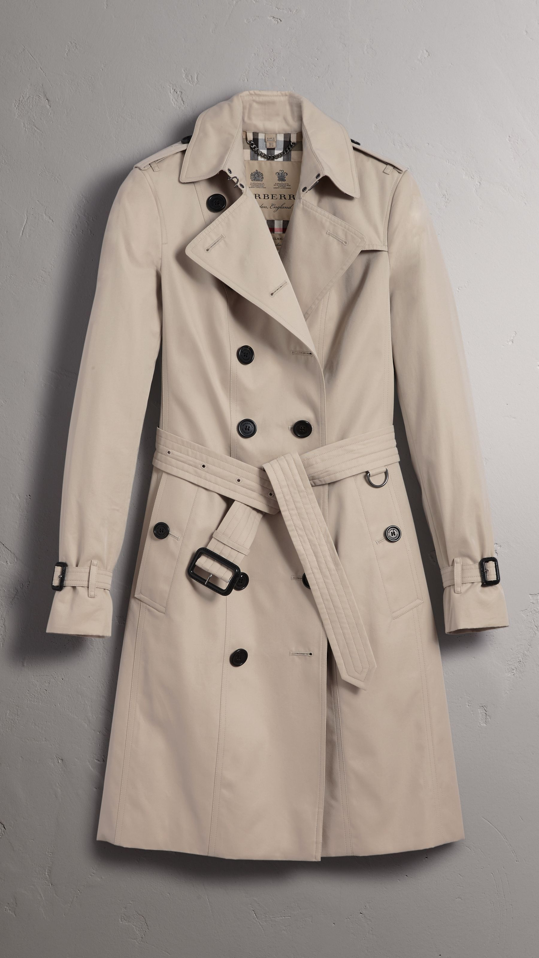 52f3201a2b7d01 The Sandringham – Long Trench Coat in Stone - Women | Burberry United States