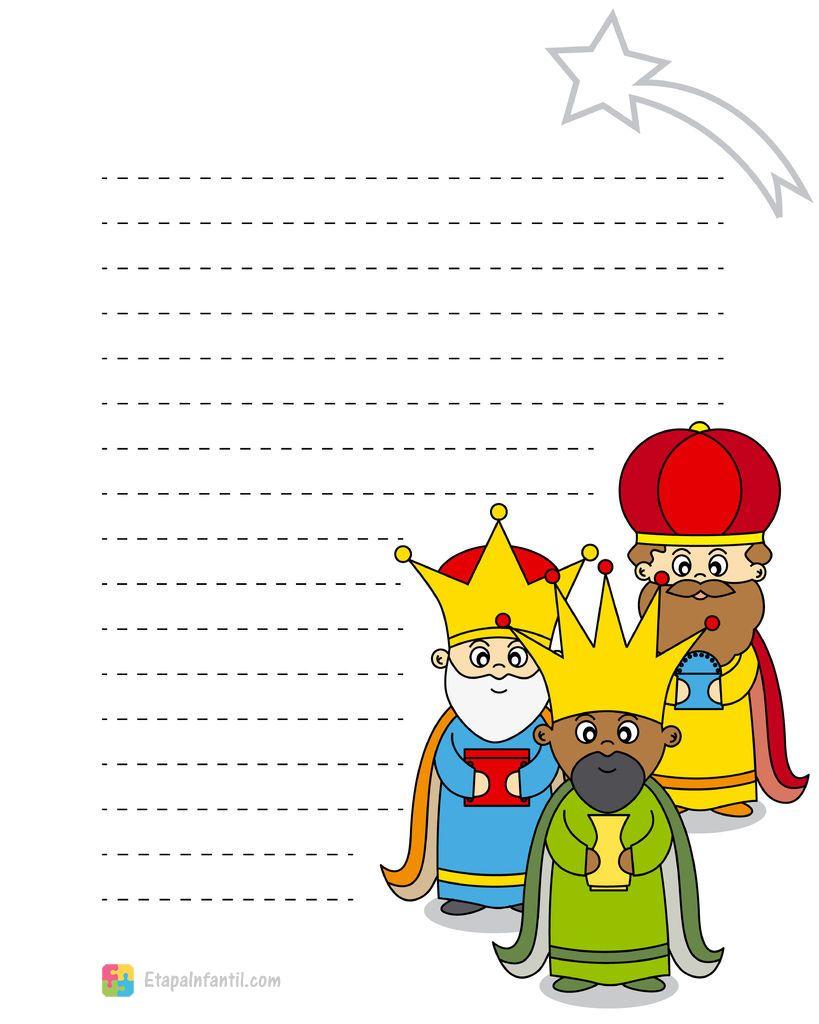 Carta a los Reyes Magos para imprimir https://www.etapainfantil.com ...