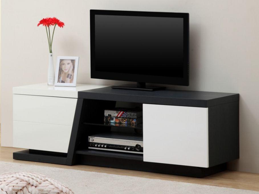 meuble tv privilege avec leds en mdf gris finition laque blanc prix promo meuble tv vente - Meuble Tv Blanc Vente Unique