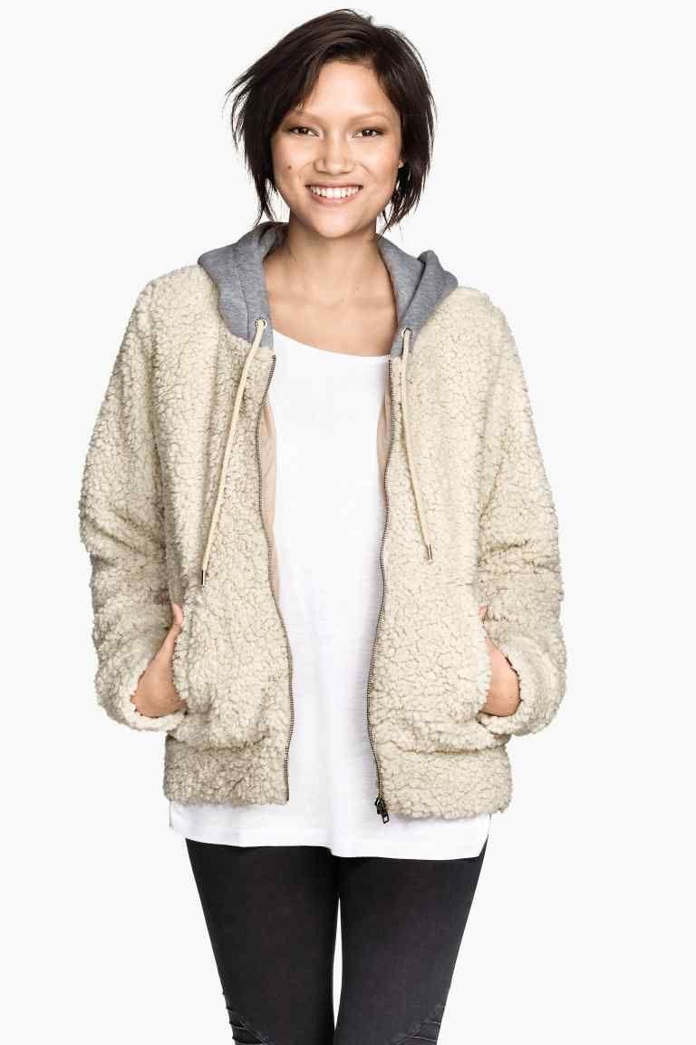Veste en peluche avec capuche | H&M
