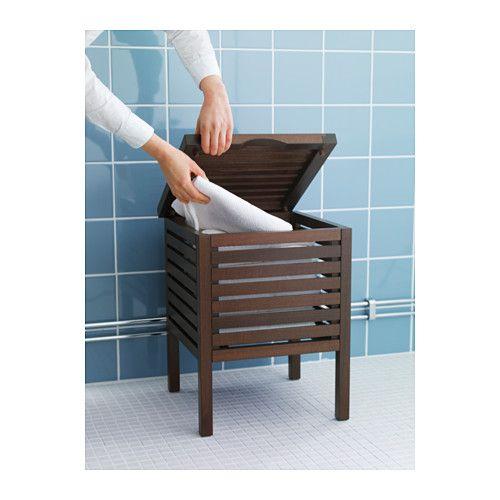MOLGER Asiento con almacenaje - marrón oscuro, - - IKEA   ikea ...
