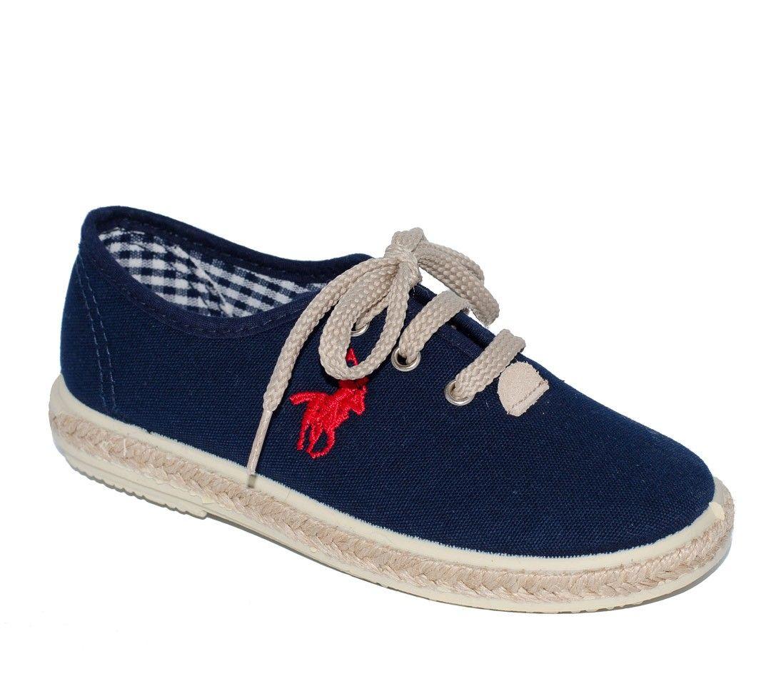 2b6942baa Zapato serraje azul marino para niño de Vul-Peques