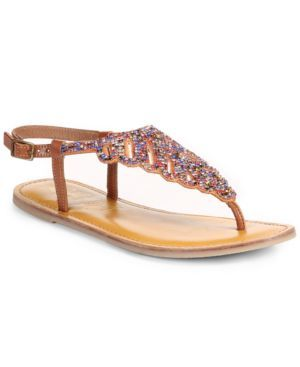Naughty Monkey Butterfly Effect Thong Sandals Women's Shoes (884886337807) Such a sweet, sparkling style. The Butterfly Effect thong sandals by Naughty Monkey feature shining rhinestone accents. By Naughty Monkey.