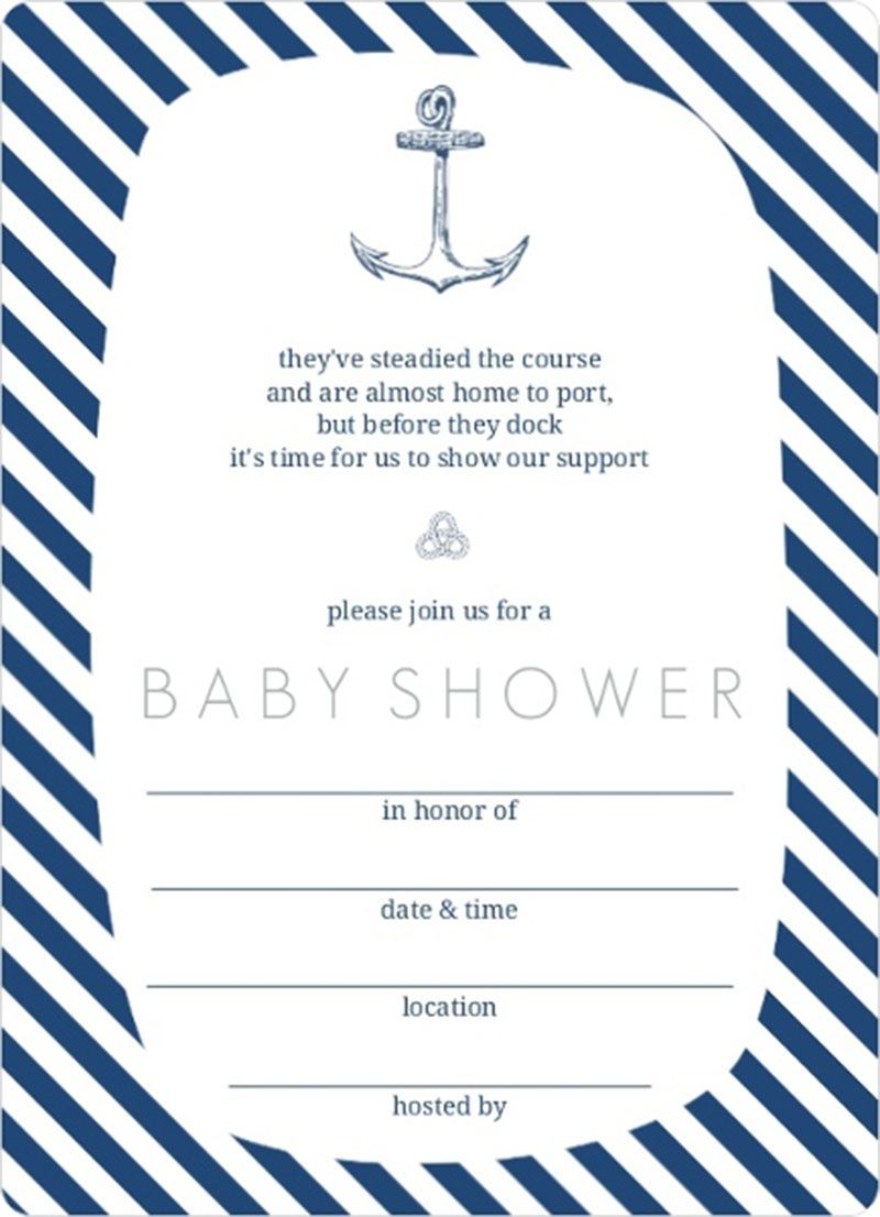 Trendy Navy White Anchor Nautical Fill In Blank Baby Shower In Nautical Baby Shower Invitations Modern Baby Shower Invitations Baby Shower Invitation Templates