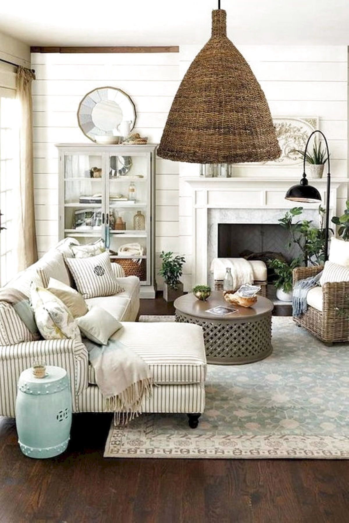 101 Best Farmhouse Living Room Decoration Ideas French Cou