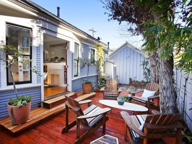 Long Beach CA Bungalow Backyard