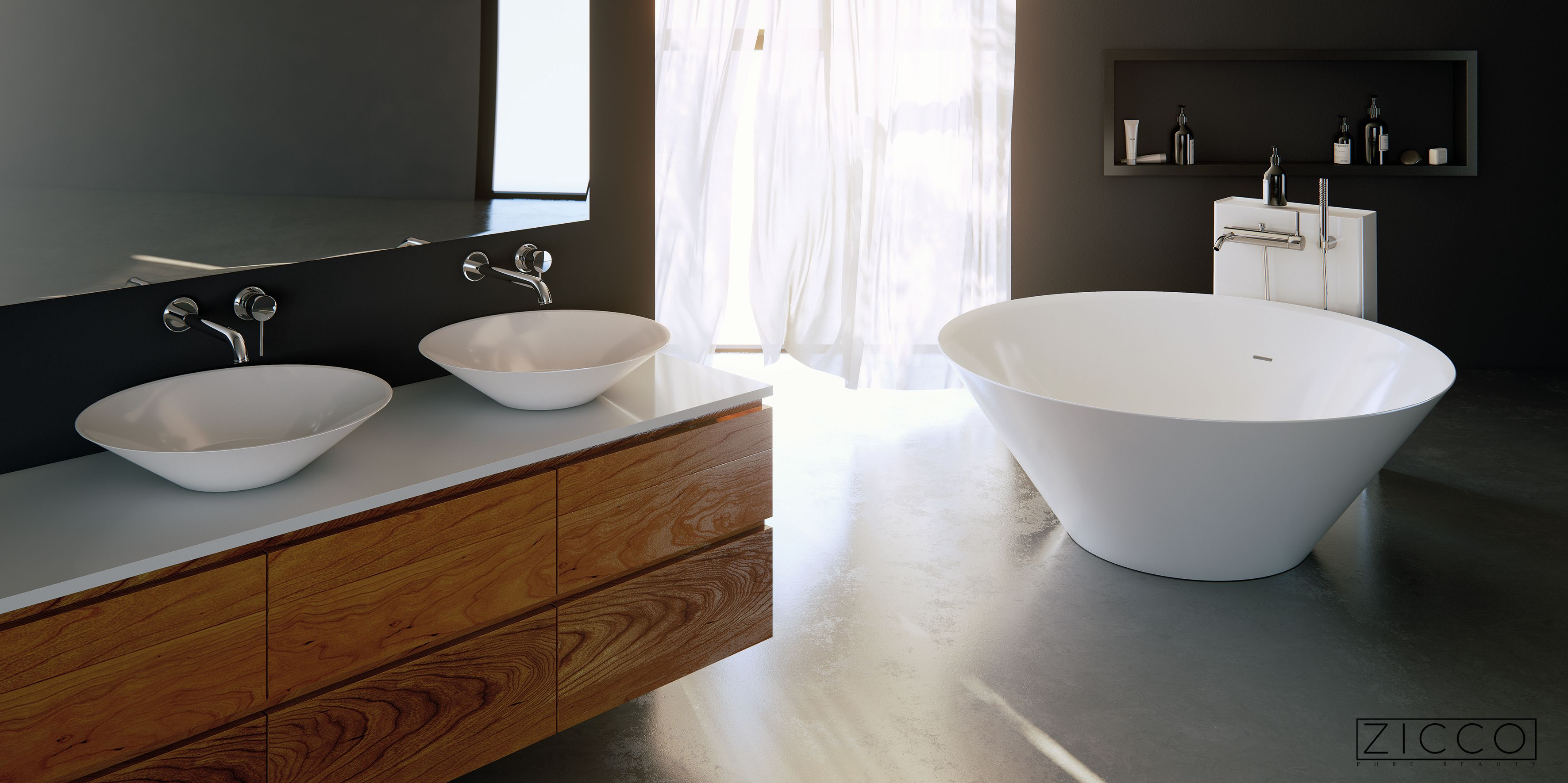 Waschbecken Waschbeckenschrank Badewanne Freistehende