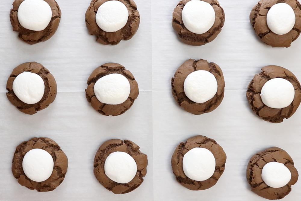 Chocolate Marshmallow Cookies — Baking with Josh & Ange #chocolatemarshmallowcookies