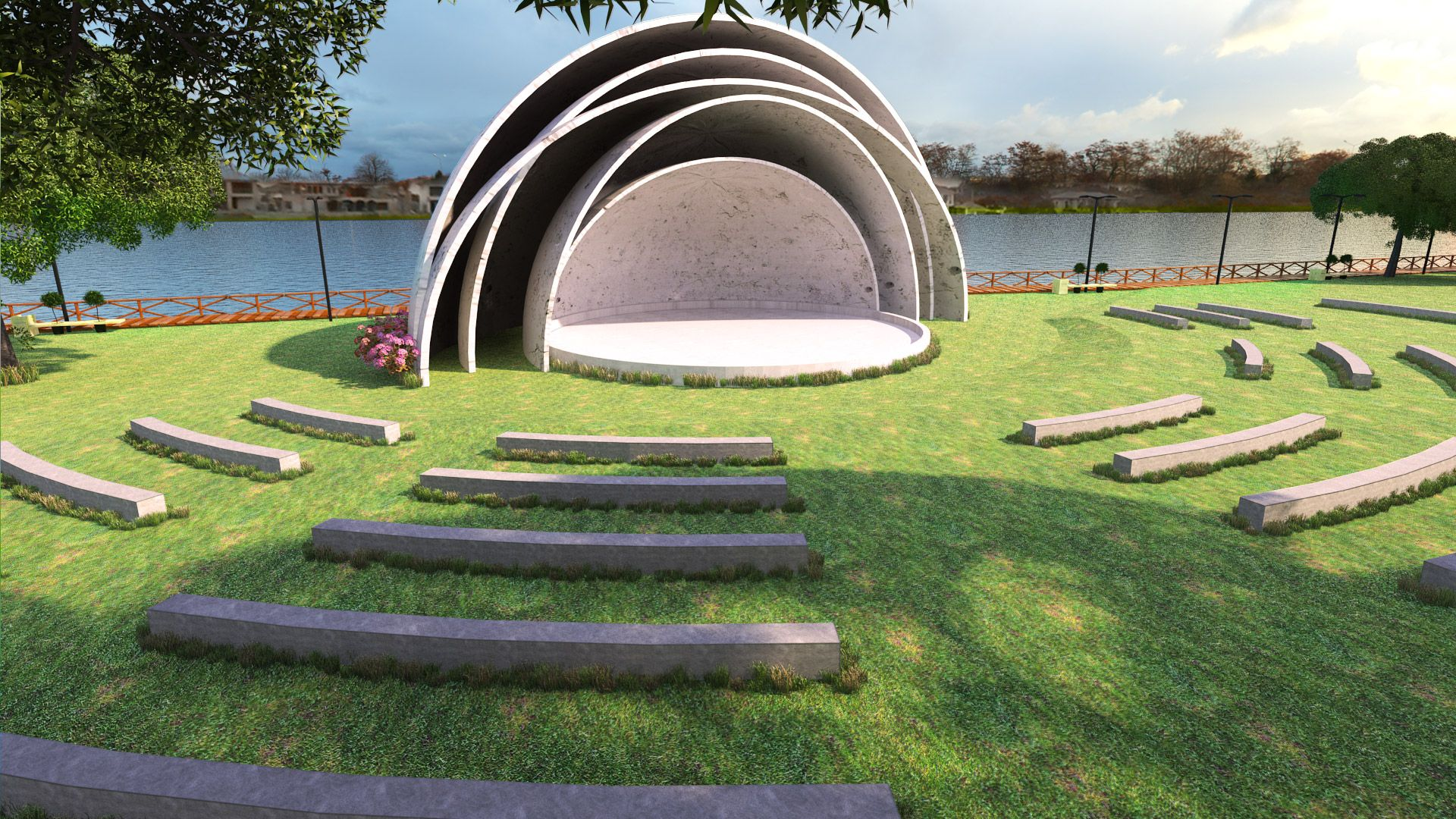 Teatro abierto en parque Samanes | Amphitheater ...
