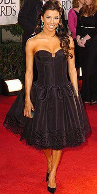 Eva Longoria in Oscar de la Renta 2005 Golden Globes