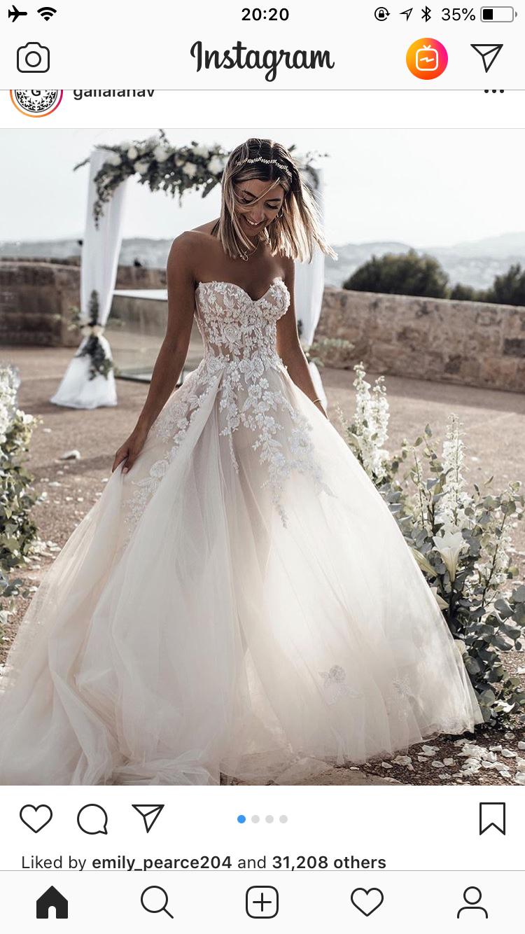 333211d34dcec Pin by Emily Buchanan on Wedding Love | Wedding dresses, Long wedding  dresses, Sweetheart wedding dress