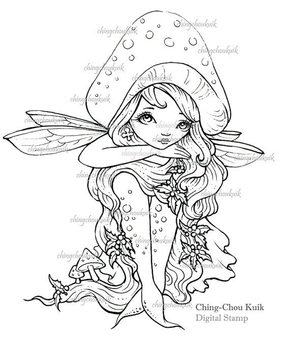 fantasy mushroom coloring pages - photo#25