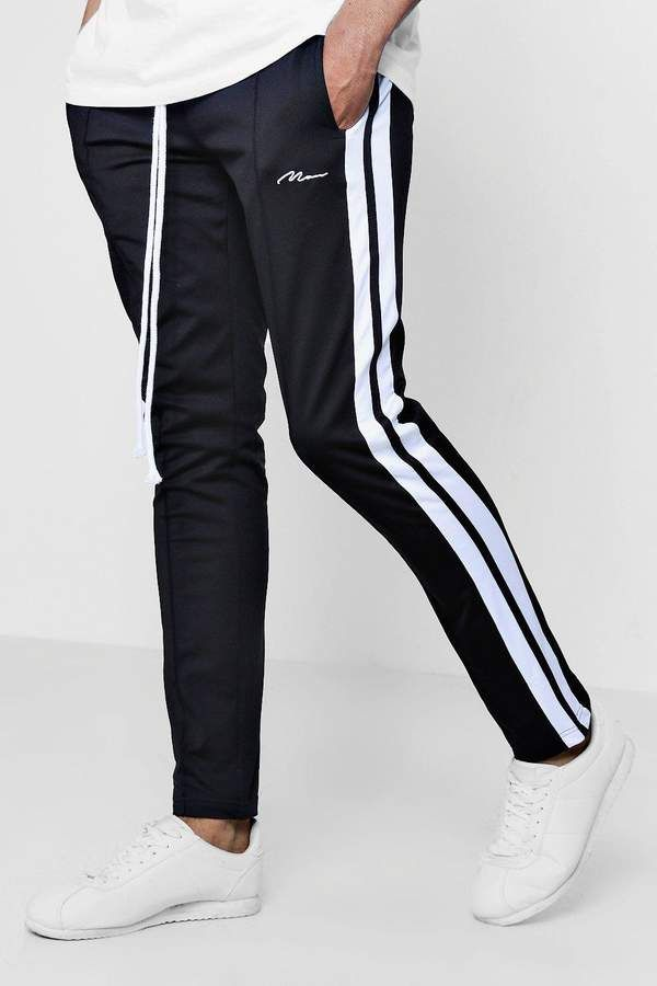 10d40784a205 Skinny Fit MAN Signature Joggers With Side Stripe in 2019 | شلوار ...