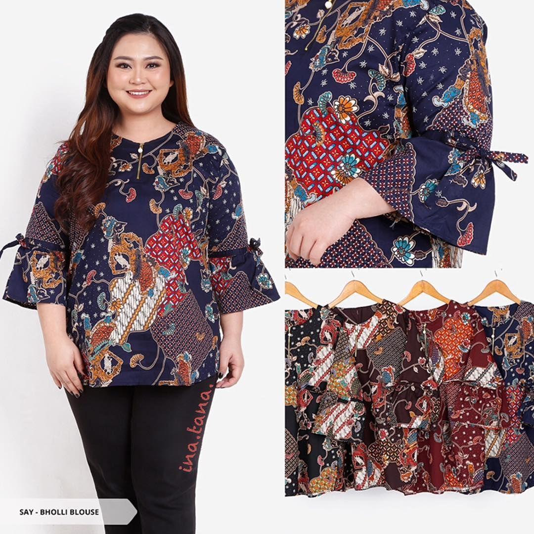 Model Kebaya Batik Untuk Badan Gemuk Desain Blus Model Pakaian Wanita