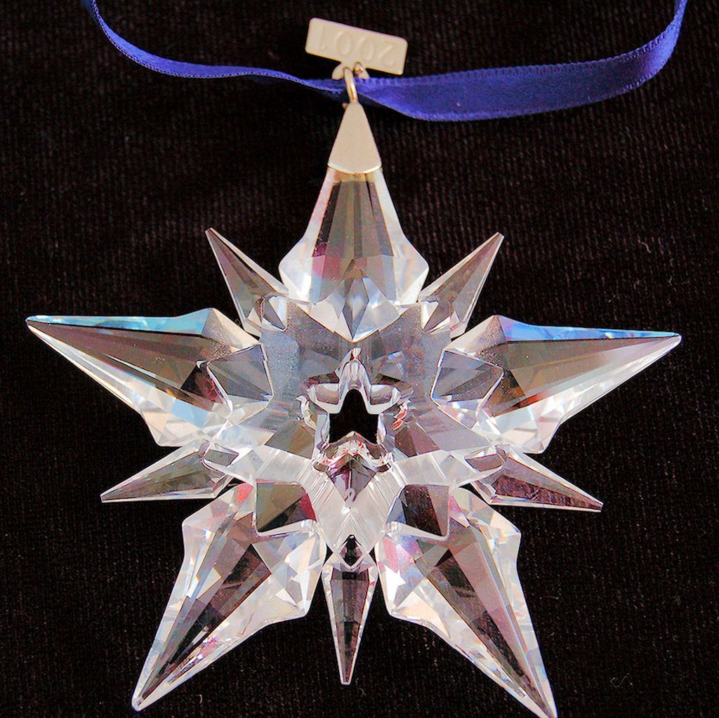 Swarovski Crystal Annual 2001 Snowflake Ornament Retired Limited Edition from Antik Avenue on Ruby Lane