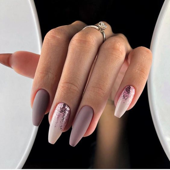 51 Stylish Acrylic Nail Designs For New Year 2019 With Images Fall Acrylic Nails Mauve Nails Coffin Nails Designs