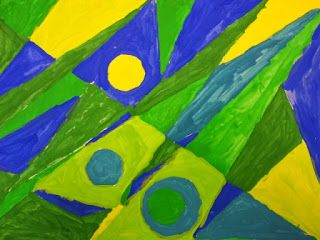 4th Grade Paul Klee Analogous Abstracts Abstract Art Lesson