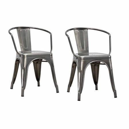 Dorel Home Products Elise Metal Dining Chair Set Of 2 Multiple Colors Metal Dining Chairs Dining Chairs Chair