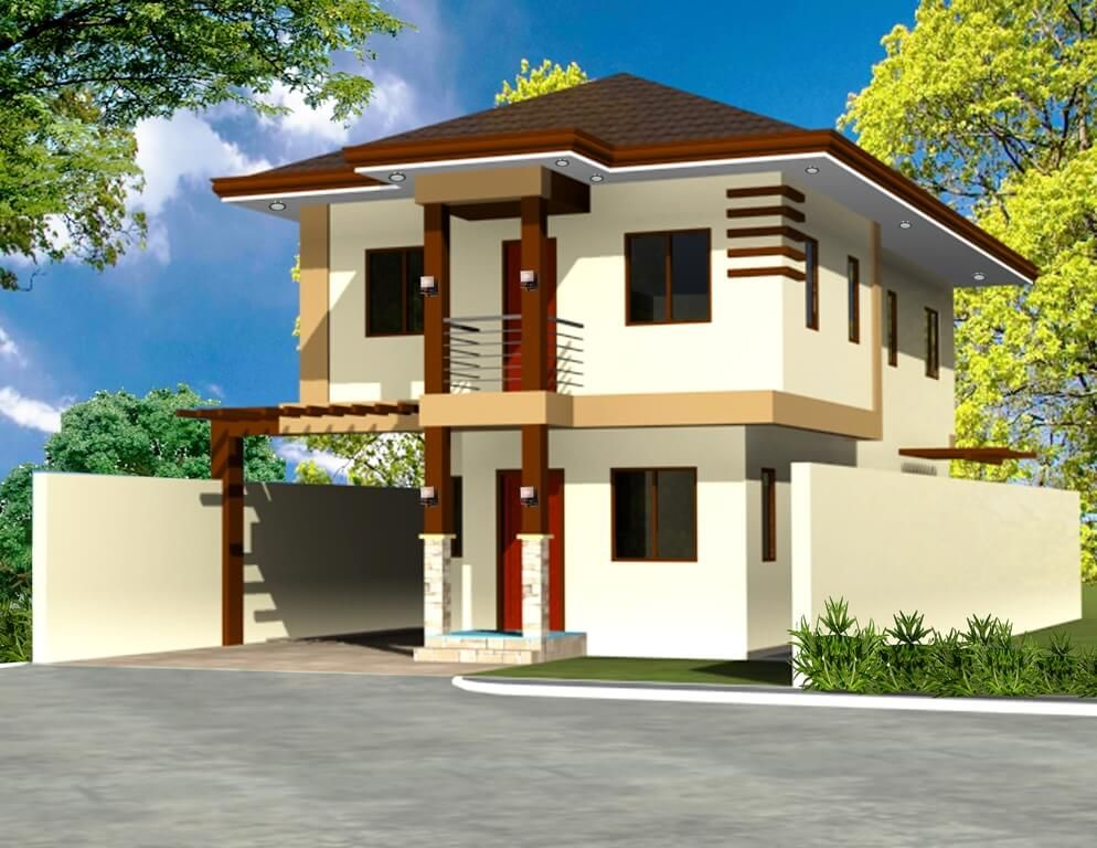 Two Storey House Design 180 Sqm Philippines House Design House Plans Modern House Plans
