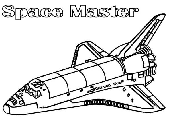Space Master Spaceship Coloring Page Netart In 2020 Space Coloring Pages Super Coloring Pages Coloring Pages