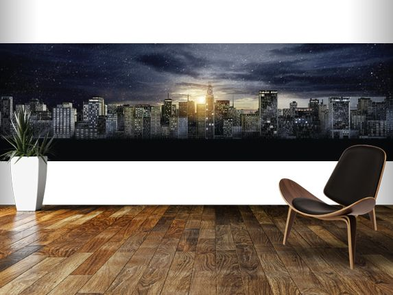 Beautiful Gotham City Skyline, The Dark Knight Rises Wall Mural Room Setting Part 31