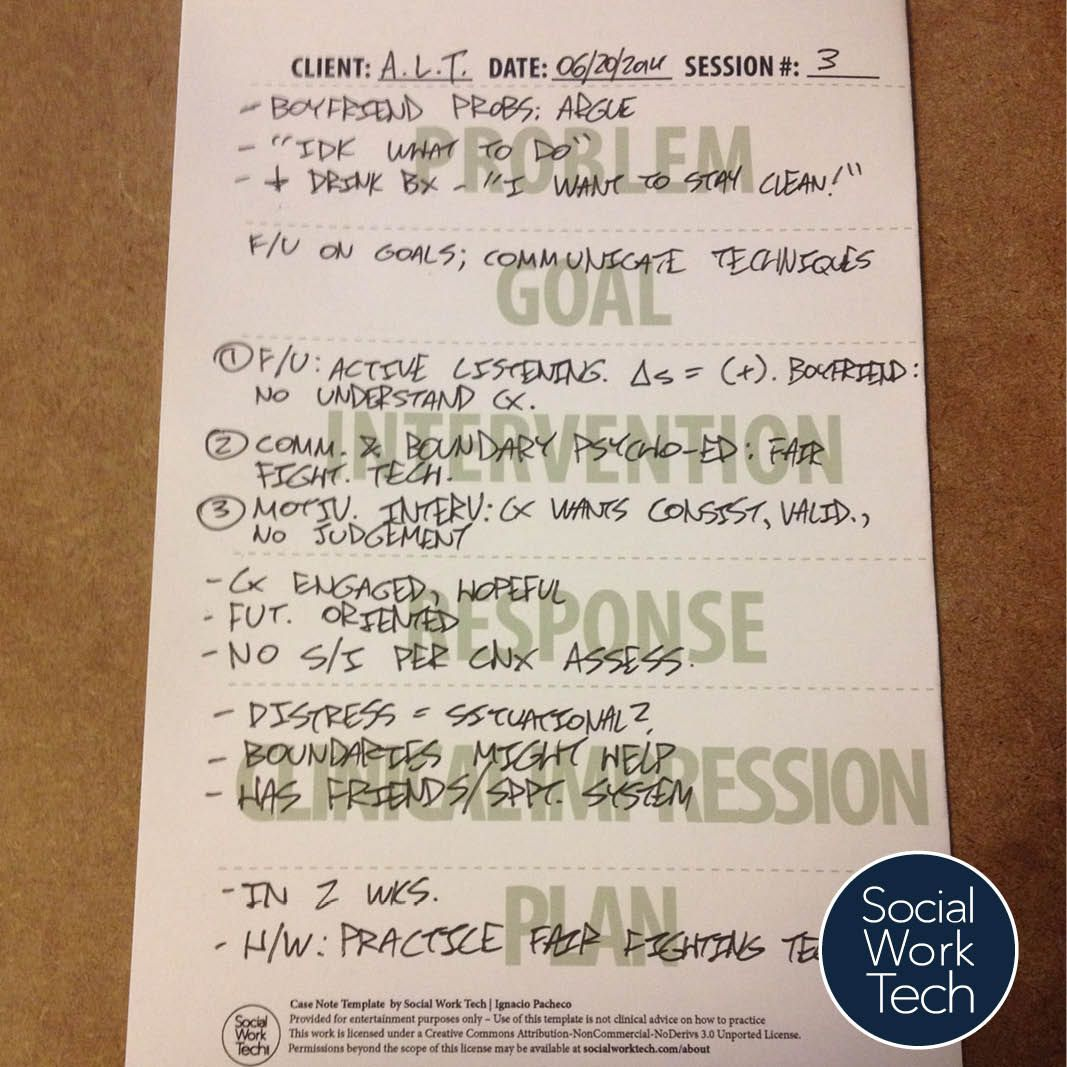 Note Taking Templates For Clinical Social Work