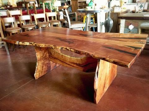 Live Edge Mesquite Rustic Dining Table 2 La Casona Custom