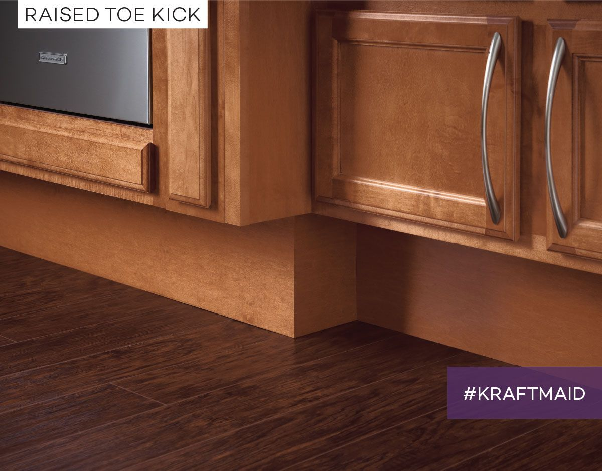 Kraftmaid Cabinets Can Be Raised Off The Floor With 9 High And 6 Deep Toe Kicks Making It Easi Universal Design Cabinets And Countertops Kraftmaid Cabinets