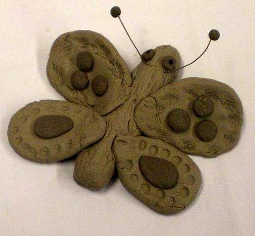 Oogly butterflies of clay an easy kid 39 s project art for Easy clay ideas