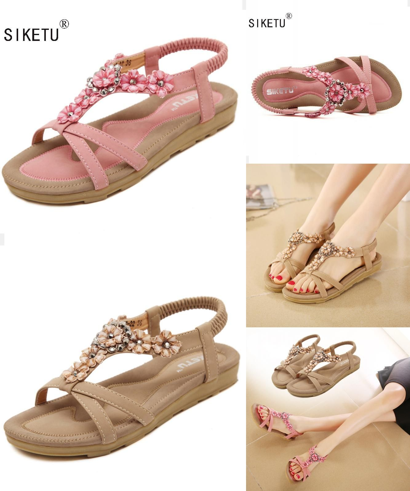 b55ad54265a0  Visit to Buy  SIKETU Summer Women Sandals 2017 Gladiator Sandals Women  Shoes Bohemia Flat