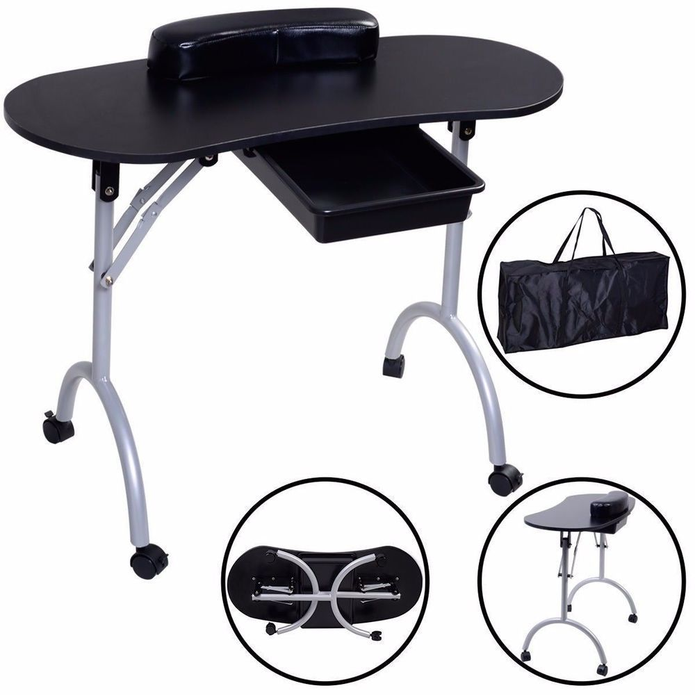 Nail Table Portable Spa Salon Equipment Manicure Table