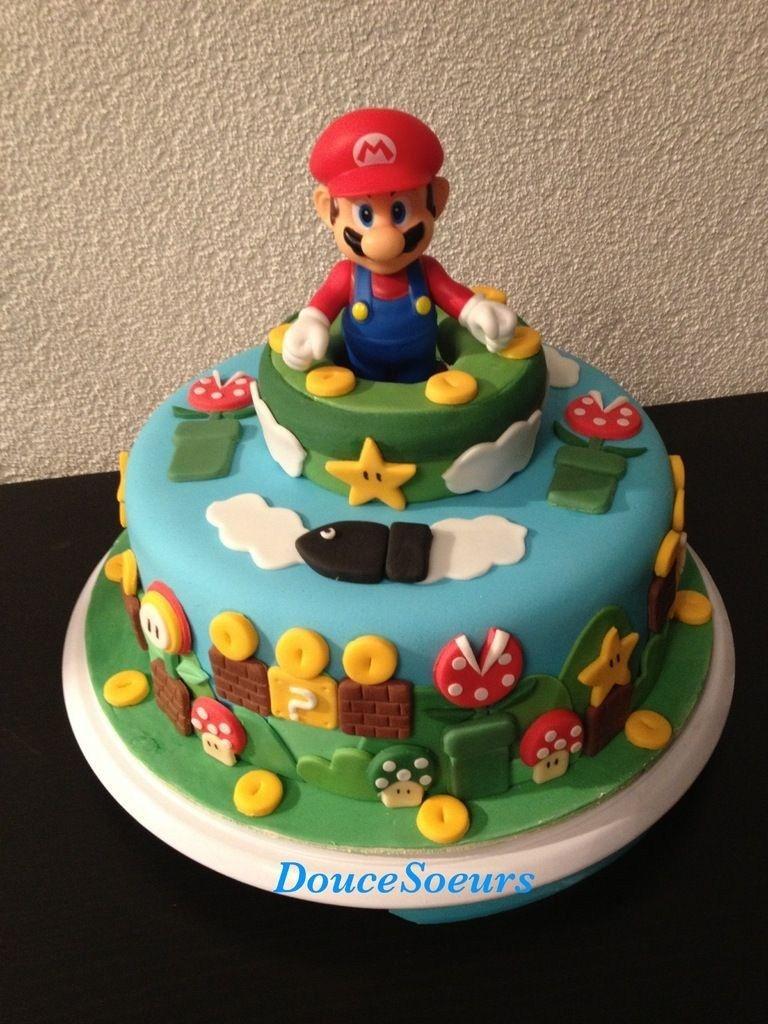 Swell 32 Brilliant Photo Of Mario Bros Birthday Cake With Images Personalised Birthday Cards Akebfashionlily Jamesorg